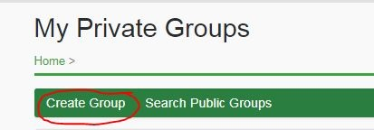 How do I create a private group?