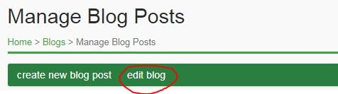 How do I edit my blog or blog post?
