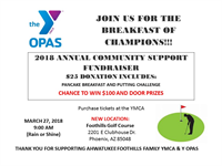 Ahwatukee Foothills Family YMCA & Y OPAS Breakfast of Champions Annual Community Fundraiser