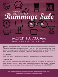 Parish of St. Benedict Hosts Cmty Rummage Sale