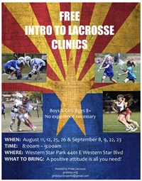 Free Intro to Lacrosse Clinic!